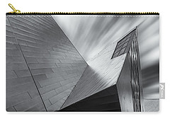 Carry-all Pouch featuring the photograph Contemporary Architecture Of The Shops At Crystals, Aria, Las Ve by Adam Romanowicz