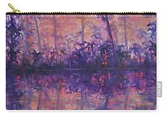Contemporary Nature Painting Tropical Lake Sunset Carry-all Pouch