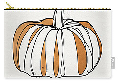 Contemporary Pumpkin- Art By Linda Woods Carry-all Pouch by Linda Woods