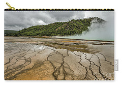 Carry-all Pouch featuring the photograph Contrasts At Midway Geyser Basin by Sue Smith