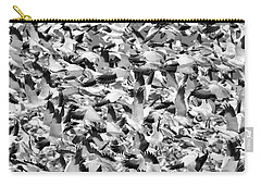 Carry-all Pouch featuring the photograph Controlled Chaos Bw by Everet Regal