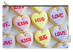 Carry-all Pouch featuring the photograph Conversation Heart Decorated Cookies by Teri Virbickis