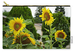 Conversing Sunflowers Carry-all Pouch
