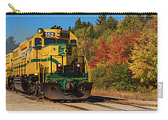 Carry-all Pouch featuring the photograph Conway New Hampshire Scenic Railway by Brenda Jacobs