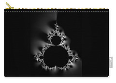 Cool Black And White Mandelbrot Set Carry-all Pouch by Matthias Hauser