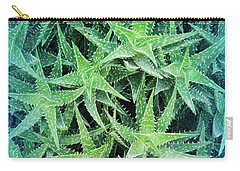 Carry-all Pouch featuring the photograph Cool Blue Aloevera  by Aimee L Maher Photography and Art Visit ALMGallerydotcom