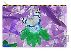Cool Butterfly In Lavender Leaves Carry-all Pouch