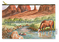 Carry-all Pouch featuring the painting Cool, Cool Water by Marilyn Smith