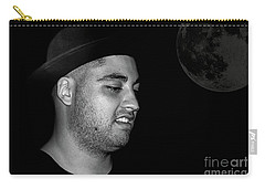 Carry-all Pouch featuring the photograph Cool Dude Portrait By Kaye Menner by Kaye Menner