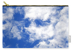 Cool Face In The Blue Sky Carry-all Pouch by Belinda Lee