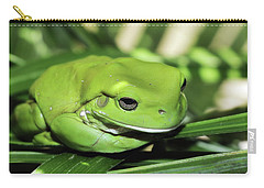 Cool Green Frog 001 Carry-all Pouch