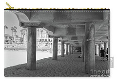 Carry-all Pouch featuring the photograph Cool Off In The Shade Of The Pier by Ana V Ramirez