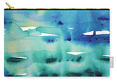 Carry-all Pouch featuring the painting Cool Watercolor by Jocelyn Friis