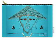 Coolie Buddha -- Stylized Buddha In Hat Carry-all Pouch