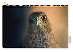 Coopers Hawk At Sunset Carry-all Pouch by Jai Johnson