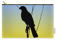 Coopers Hawk Silhouette At Sunrise Carry-all Pouch