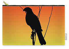 Coopers Hawk Silhouette At Sunset Carry-all Pouch