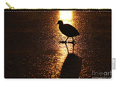 Coot Walks On Golden Ice  Carry-all Pouch