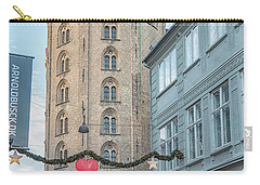 Carry-all Pouch featuring the photograph Copenhagen Round Tower Street View by Antony McAulay