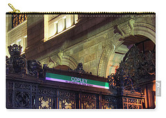 Carry-all Pouch featuring the photograph Copley Square T Stop - Boston by Joann Vitali