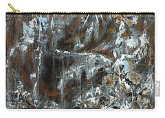 Carry-all Pouch featuring the painting Copper And Mica by Joanne Smoley