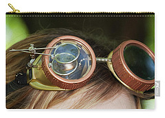 Carry-all Pouch featuring the photograph Copper Goggles - Steampunk by Betty Denise