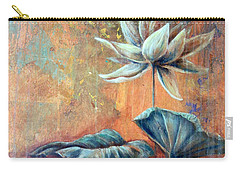 Copper Lotus Carry-all Pouch