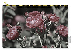 Copper Rouge Rose In Almost Black And White Carry-all Pouch