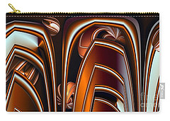 Copper Shields Carry-all Pouch by Ron Bissett