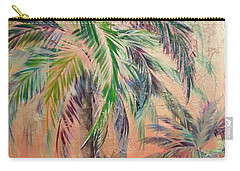 Copper Trio Of Palms Carry-all Pouch by Kristen Abrahamson