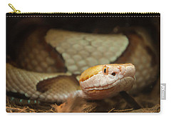 Carry-all Pouch featuring the digital art Copperhead by Chris Flees