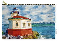 Coquille River Lighthouse Carry-all Pouch by Jeff Kolker