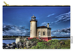 Coquille River Lighthouse Carry-all Pouch by Thom Zehrfeld