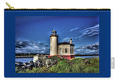 Carry-all Pouch featuring the photograph Coquille River Lighthouse by Thom Zehrfeld