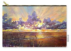 Coquina Beach Sunset Carry-all Pouch by Lou Ann Bagnall