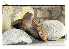 Carry-all Pouch featuring the photograph Coral And Turtle Decor by Francesca Mackenney