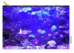 Carry-all Pouch featuring the digital art Coral Art 2 by Francesca Mackenney