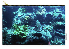 Carry-all Pouch featuring the photograph Coral Art 4 by Francesca Mackenney