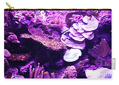 Carry-all Pouch featuring the digital art Coral Art 5 by Francesca Mackenney