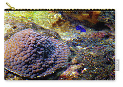 Carry-all Pouch featuring the digital art Coral Art Cu 3 by Francesca Mackenney