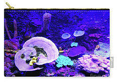 Carry-all Pouch featuring the digital art Coral Art by Francesca Mackenney