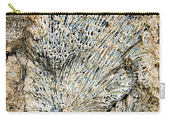 Carry-all Pouch featuring the photograph Coral Fossil by Jean Noren