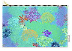 Coral Garden Bright Aqua Multi Carry-all Pouch