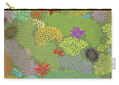 Coral Garden Olive Multi Carry-all Pouch
