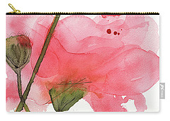Carry-all Pouch featuring the painting Coral Poppies by Dawn Derman