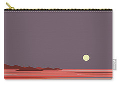 Carry-all Pouch featuring the digital art Coral Sea Moonrise by Val Arie