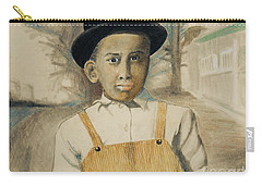 Corduroy Overalls,1942 -- Retro Portrait Of African-american Child Carry-all Pouch