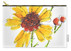 Coreopsis By Kathleen Mcelwaine Carry-all Pouch