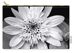 Carry-all Pouch featuring the photograph Coreopsis Flower Black And White by Christina Rollo