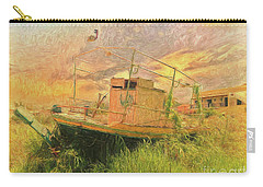 Carry-all Pouch featuring the photograph Corfu 25 High And Dry by Leigh Kemp
